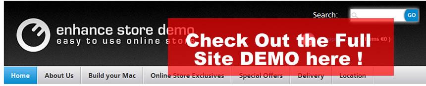 Ecommerce Demo Option